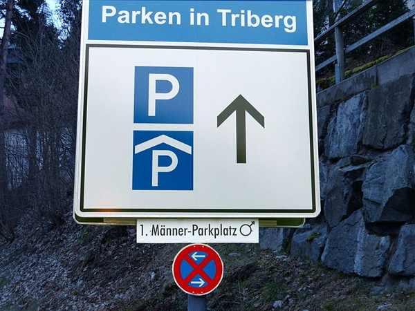G'schichtle 2: Weltweilt einziger Männerparkplatz