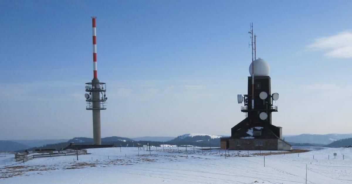 G'schichtle:  Die Wetterstation auf dem Feldberggipfel