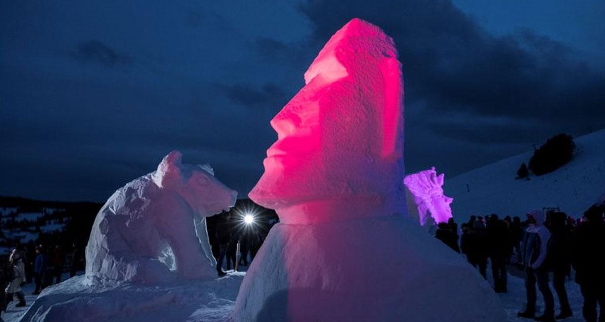 Spektakulär: das Bernauer Schneeskulpturen-Festival