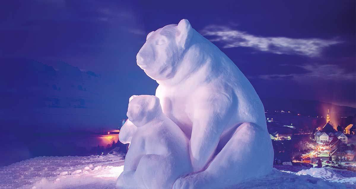 3. Schwarzwälder Schneeskulpturen-Festival in Bernau