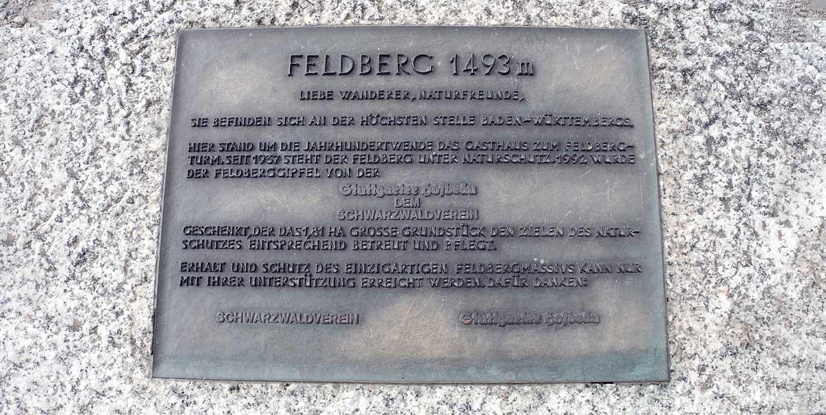 """G'SCHICHTLE 93: """"Stuttgarter Hofbräu"""" schenkt Schwarzwaldverein Feldberggipfel"""