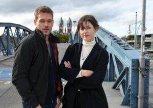 Dennis Danzeisen (Joscha Kiefer) und Tanja Wilken (Katharina Nesytowa) ermitteln von nun an gemeinsam im Breisgau. Fotos: ZDF/Barbara Bauriedl